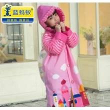 卡通新品女孩雨衣女童雨披小学生小孩男孩男童带书包位儿童