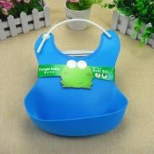 婴儿围兜立体防水兜围嘴塑料防漏宝宝饭兜硅胶立体饭兜2个装