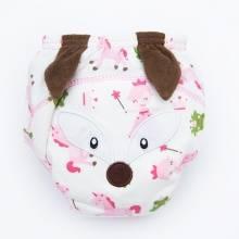 粉色小狐狸造型婴儿学习裤儿童卡通尿裤 宝宝训练裤防漏隔尿裤