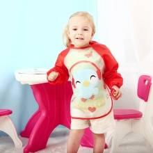 婴幼儿童长袖免洗防水宝宝吃饭罩衣 EVA卡通反穿衣画画衣儿童罩衫